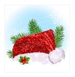 santa καπέλων s Χριστουγέννων Στοκ φωτογραφία με δικαίωμα ελεύθερης χρήσης