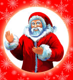 santa καρτών Claus Ελεύθερη απεικόνιση δικαιώματος