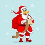 Santa κοκκόρων Χριστουγέννων Στοκ Εικόνες