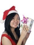 santa κοριτσιών Χριστουγέννων Στοκ Εικόνες
