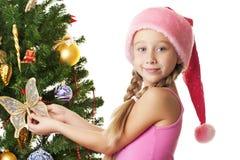 santa κοριτσιών στοκ φωτογραφίες με δικαίωμα ελεύθερης χρήσης