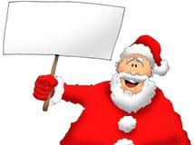 Santa με ένα σημάδι Στοκ Εικόνες