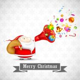 Santa με τα Χριστούγεννα Goodies Στοκ Εικόνες