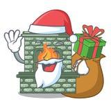 Santa με την εστία πολυτέλειας δώρων που απομονώνεται στη μασκότ στοκ εικόνες