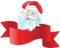 Santa με την κορδέλλα Στοκ Εικόνα