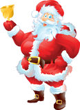 Santa με το κουδούνι Στοκ εικόνες με δικαίωμα ελεύθερης χρήσης