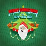 Santa με το χριστουγεννιάτικο δέντρο Στοκ φωτογραφία με δικαίωμα ελεύθερης χρήσης