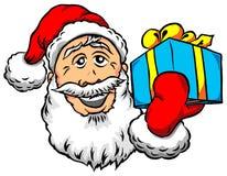 Santa με το δώρο Στοκ Εικόνες