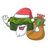 Santa με το chuka δώρων wakame σε ένα κύπελλο κινούμενων σχεδίων απεικόνιση αποθεμάτων