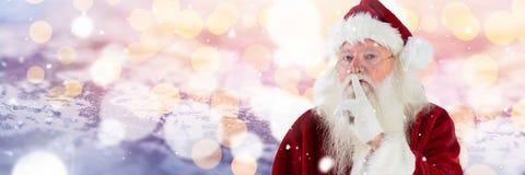 Santa με χειμερινών τοπίων για να είναι ήρεμος Στοκ φωτογραφία με δικαίωμα ελεύθερης χρήσης