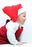 santa μωρών ΚΑΠ Στοκ εικόνες με δικαίωμα ελεύθερης χρήσης