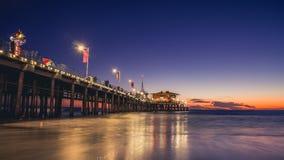 Santa Μόνικα αποβαθρών ηλιοβασιλέματος στοκ εικόνες με δικαίωμα ελεύθερης χρήσης