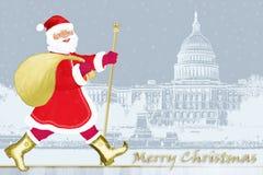 santa Ουάσιγκτον Claus ελεύθερη απεικόνιση δικαιώματος