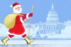 santa Ουάσιγκτον Claus απεικόνιση αποθεμάτων