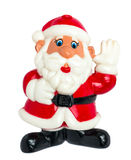Santa παιχνιδιών στο άσπρο υπόβαθρο Στοκ εικόνα με δικαίωμα ελεύθερης χρήσης