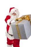 santa παράδοσης δώρων Claus Χριστο&u Στοκ φωτογραφία με δικαίωμα ελεύθερης χρήσης