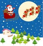 santa Παραμονής Χριστουγέννων ελεύθερη απεικόνιση δικαιώματος