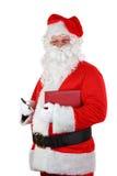 santa πεννών σημειωματάριων Claus στοκ εικόνα με δικαίωμα ελεύθερης χρήσης