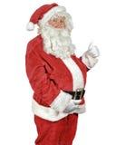 Santa που δίνει τους αντίχειρες επάνω Στοκ φωτογραφίες με δικαίωμα ελεύθερης χρήσης