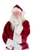 Santa που ζητά ήρεμο στη κάμερα στοκ φωτογραφία με δικαίωμα ελεύθερης χρήσης