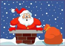 Santa που κολλιέται Στοκ φωτογραφίες με δικαίωμα ελεύθερης χρήσης