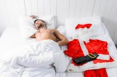Santa που παίρνει έτοιμο για τα Χριστούγεννα Στοκ Εικόνα