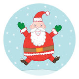 Santa που πηδά για τη χαρά Στοκ Εικόνες