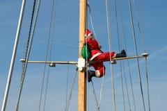 Santa σε μια κρουαζιέρα Στοκ εικόνες με δικαίωμα ελεύθερης χρήσης