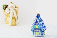 santa σπιτιών γυαλιού Claus στοκ φωτογραφίες με δικαίωμα ελεύθερης χρήσης