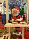 Santa στην εργασία Στοκ Φωτογραφία