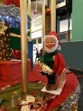 Santa στην εργασία Στοκ Εικόνα