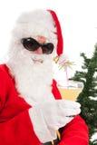 Santa στις διακοπές Στοκ φωτογραφία με δικαίωμα ελεύθερης χρήσης