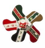 Santa στον κύκλο της κάλτσας Χριστουγέννων Στοκ Εικόνες