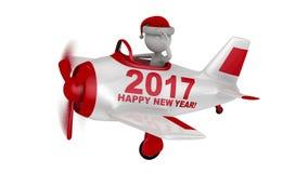 Santa στο αεροπλάνο καλή χρονιά 2017 φιλμ μικρού μήκους