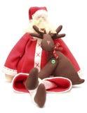 santa ταράνδων Χριστουγέννων Στοκ Εικόνα