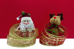 santa ταράνδων Χριστουγέννων Στοκ φωτογραφίες με δικαίωμα ελεύθερης χρήσης