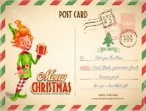santa ταχυδρομείου επιστολών Χριστουγέννων στο διάνυσμα Στοκ φωτογραφία με δικαίωμα ελεύθερης χρήσης