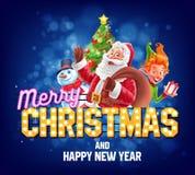 santa ταχυδρομείου επιστολών Χριστουγέννων στο διάνυσμα Στοκ εικόνα με δικαίωμα ελεύθερης χρήσης