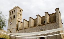 santa της Μαρίας ibiza εκκλησιών κ&alp Στοκ φωτογραφία με δικαίωμα ελεύθερης χρήσης