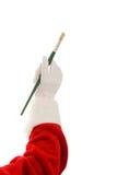 santa χεριών βουρτσών καλλιτεχνών στοκ φωτογραφίες