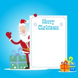 santa Χριστουγέννων καρτών Στοκ φωτογραφία με δικαίωμα ελεύθερης χρήσης