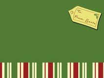 santa Χριστουγέννων καρτών Στοκ εικόνα με δικαίωμα ελεύθερης χρήσης
