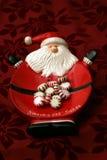 santa выйденный конфетой Стоковая Фотография