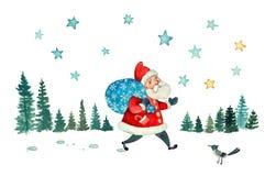 Santa& x27; прогулка s стоковые изображения rf