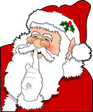 Santa_03. Raster cartoon graphic depicting Santa Claus Stock Images