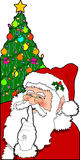Santa_04. Raster cartoon graphic depicting Santa Claus Stock Image