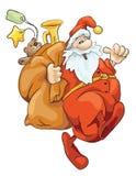 Santa 07. Santa Claus with big bag, illustration Stock Photo