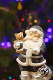 Santa. With a bruin and gifts. Toy Royalty Free Stock Images
