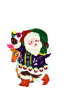 Santa. This is a Chinese paper-cut, reflecting the happy scenes of Santa Claus Royalty Free Stock Photography