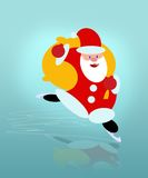 Santa. Cartoon funny computer illustration royalty free illustration